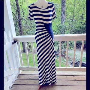 Beige by eci Striped Maxi Dress S FREE SHIP